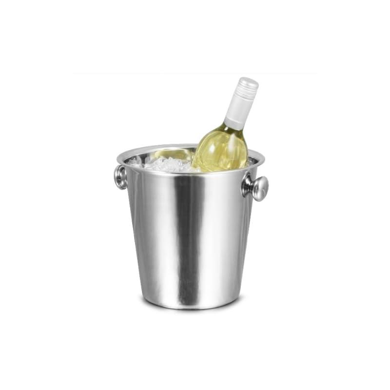 Tulip Wine Bar Drinkstuff Eimer Edelstahl Fr Wein Eimer Sektkhler Flaschenkhler Weinkhler Flaschenkhler Eiswrfelbehlter