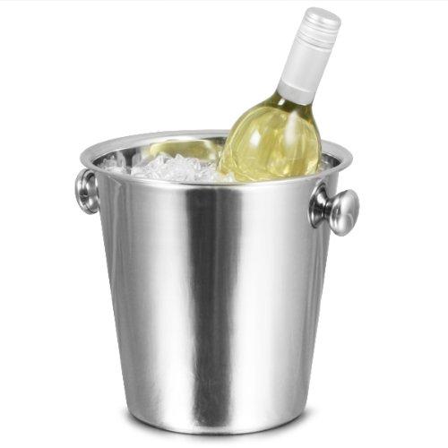 Tulip Wine bar @drinkstuff Eimer, Edelstahl, Für Wein / Eimer, Sektkühler, Flaschenkühler, Weinkühler / Flaschenkühler / Eiswürfelbehälter