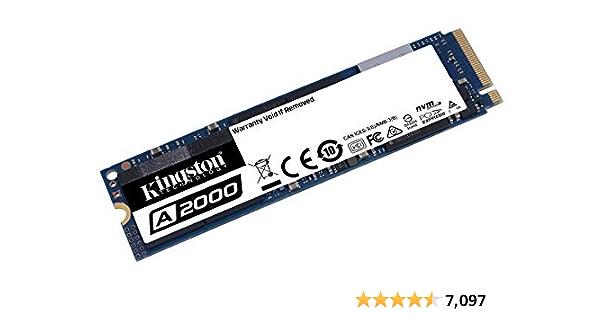 Kingston 500GB A2000 M.2 2280 Nvme Internal SSD PCIe Up to 2000MB/S (SA2000M8/500G)