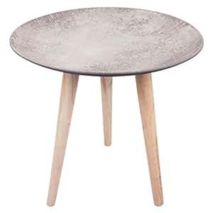 Beistelltisch mio beton zement look couchtisch tisch - Couchtisch beton holz ...