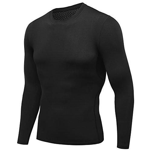 AMZSPORT-Maglia-a-Manica-Lunga-Compression-da-Uomo-Sport-Baselayer-Asciugatura-Rapida-Lunga-Camicia-ALL-SEASON