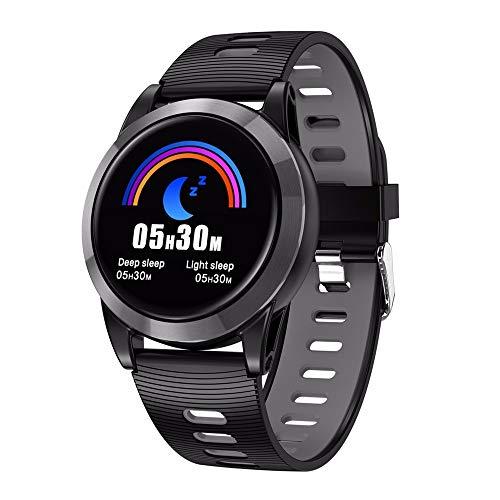 LRWEY Fitness Armband mit Pulsmesser, IP67 Waterproof 1.3 großer OLED-Bildschirm Herzfrequenzaktivität Schrittzähler Music Control Smart Armband, für iOS Android Handy