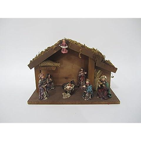 LQK-Gruppo di religiosi figure polyresin Manger ornamenti