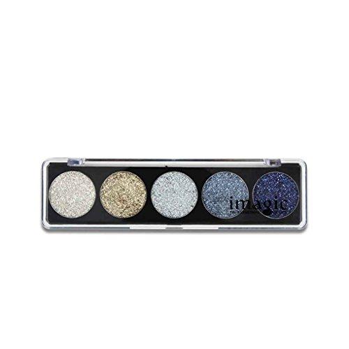 Meisijia IMAGIC 5 Farben funkelt Lidschatten Kosmetik Lidschatten Makeup Shimmer Pigment Frauen Mädchen Make-up Cosplay Eye Powder Sequin # 1 (Empfindlichen Schimmern Augen, Die Augen Die)