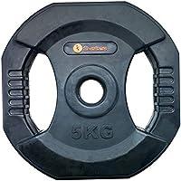 Sveltus - Disco Pump con Asas (5 kg), Color Negro