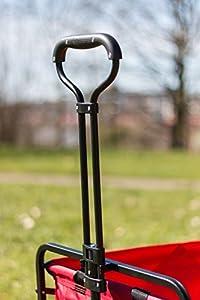 Meister Bollerwagen off-road - 68 kg Tragkraft - Ausziehbarer Griff - 360° Räder - Platzsparend faltbar - Optimal geeignet für Ausflüge & Festivals / Handwagen / Transportwagen / Strandwagen / 6816930