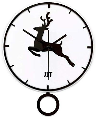DollylaStore Horloges murales murales murales Horloges créatives Entrées Simples Nordic Modern Deer Personnalité Mode Restaurant Salon Creative Mute Quartz Clock. | Des Produits De Qualité,2019 New  f7d6fe