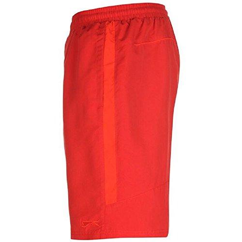 Slazenger Badeshorts Shorts Sporthose Kurzhose Bermuda Badehose Hose NEU new Rot - Rot