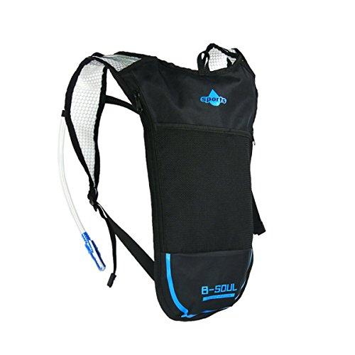 ruifu Trinkblase Tasche Rucksack System Pack Wasserbehälter für Radfahren Klettern Wandern Laufen Blau