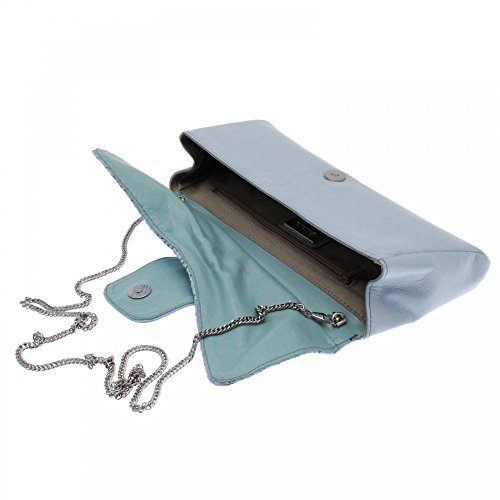 Lisa Kay Oprah Clutch Handbag Blue