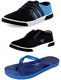 JABRA Men's & Boy's Shoes And Sandal Combo Pack Of 3