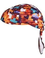 Poliester Anti-ultravioleta Del Cierre De Lazo Sombrero Panuelo Panuelo De Pirata Para Montar Colorido Cuadricula
