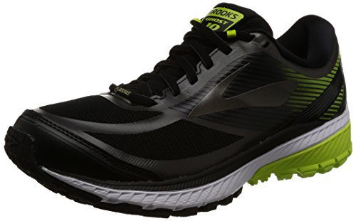 Brooks Herren Ghost 10 GTX Laufschuhe, Black/Ebony/LimePopsicle