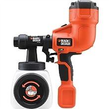 BLACK+DECKER HVLP200-GB Hand Held Paint Sprayer, 400 W, Black/Orange