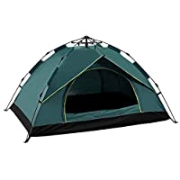 QCY AT Outdoor Tent Outdoor Camping Bed Tent 2-3-4 People Fully Automatic Tent Spring-style Speed Open Rain Sunscreen Tent (Color : Green)
