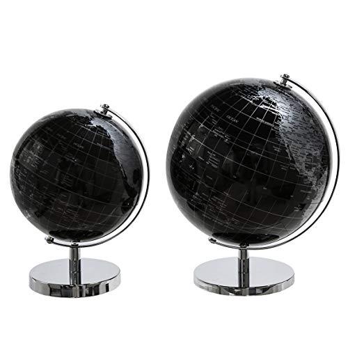 Casablanca Globus World schwarz/Silber D.20 cm Metall/Kunstst,m.Drehfunktion BxHxT 0 x 28 x 0