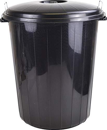 Cubo de basura, 25L, al aire libre, plástico, de colores, almacenamiento para semillas de animales