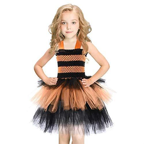 Kostüm Prinzessin Feuer - YYANG Mädchen Prinzessin Tutu Kleid Für Kindergeburtstagsfeier Halloween-Kostüm Oder Jeden Tag Party-Anlässe,Black-XS