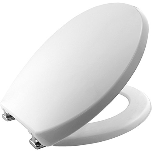 Bemis 2850CPT Buxton STA-TITE Thermoplastic Seat with STA-TITE Chrome-Plated Hinges - White