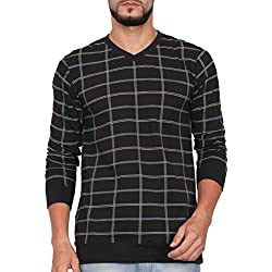 WEXFORD Men's Full Sleeve V-Neck Printed Casual T-Shirt - WEX-WFP231A