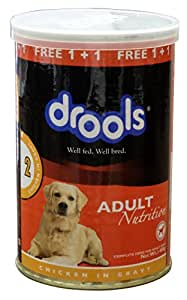 Drools Chicken Chunks in Gravy- Adult Dog Food , 400g - Tin Can (Special Offer_BUY 1 - GET 1  FREE)