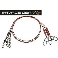 Savage Gear Titanium Jerkbait Spinnvorfach 22cm 0,5mm 20kg 2 Titanvorf/ächer Stahlvorfach zum Hechtangeln Titanvorfach Spinnvorfach