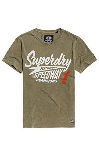 Superdry Herren Premium Equipment Tee T-Shirt, Grün (Dash Green NA2), Large