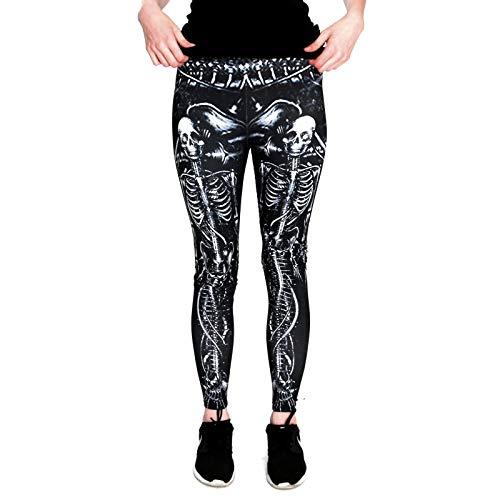 nte Halloween Leggins (Einheitsgröße) - Leggings Design Meerjungfrau Skelett ()