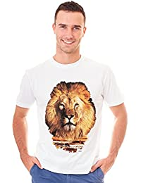 Retreez Lion The King Of The Jungle African Safari Graphic Printed T-Shirt Tee