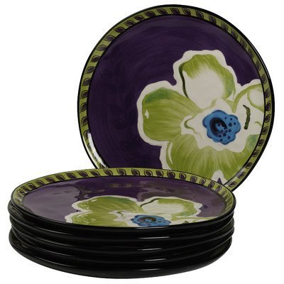 Happiness 11 Round Dinner Plate (Set of 6) by Kathy