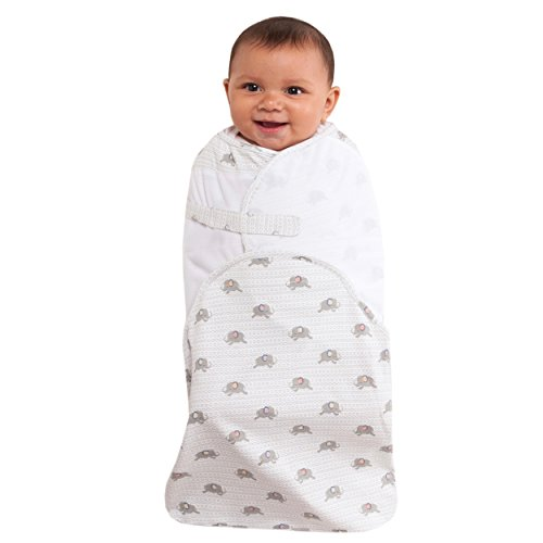 HALO SwaddleSure Adjustable Swaddling Pouch-Newborn 0-3 Months-Elephants Print
