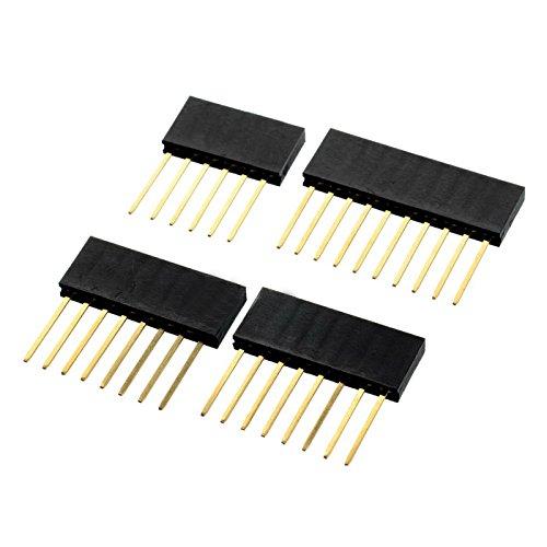 6P / 8P / 10P 2.54mm Pitch 11mm verlängern Buchsenleiste für elektronische Komponenten von Arduino UNO R3 Computerzubehör