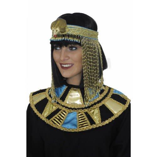 Kragenschmuck Ägypter, gold-schwarz-blau (Ägyptischen Kostüm Kragen)