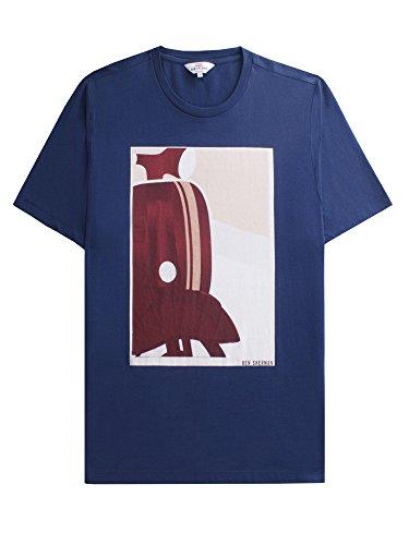 Ben Sherman Herren T-Shirt Vespa Print Tee Blau (Blue 150)
