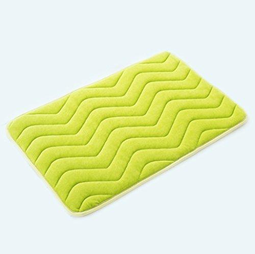 KUN PENG SHOP Accès à la porte Salle de bain Salle de bain Salle de bain Toilette Imperméable Tapis anti-mat A+ (Couleur : Fruit green)