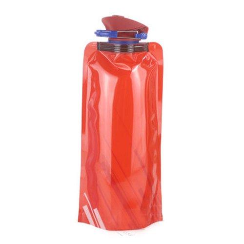 Wasserbeutel - TOOGOO(R)1pcs 700 ML faltbare Wiederverwendbar Wasserbeutel Trinkflasche Fahradflasche BPA Frei rot