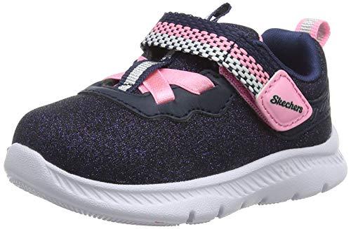 Skechers Girls' Comfy Flex 2.0 Trainers, Blue Navy Sparkle Mesh/Pink Trim Nvy, 3 UK 20 EU