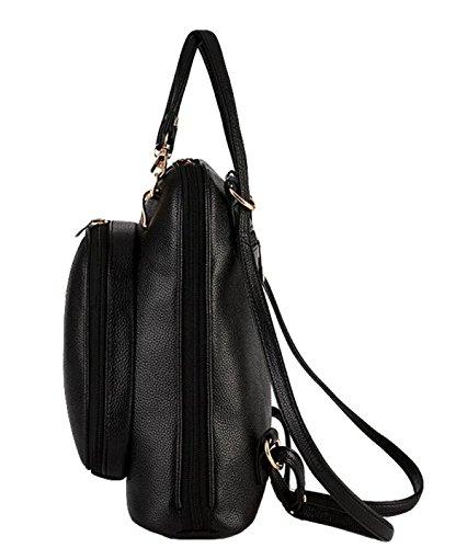 Damenmode Lässig Und Einfacher Rucksack College Wind Handtasche Schultertasche White