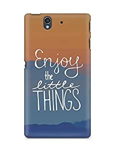 AMEZ enjoy the little things Back Cover For Sony Xperia Z