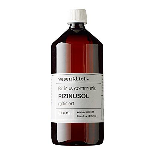 Rizinusöl 1000ml - reines Öl von wesentlich. - Pflege für Haut und Haar - Wimpern und Augenbrauen