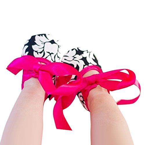 0 Deslizamento Bebê Para Meses Color2 Macias Da 6 Resistentes Cetim Solas Color2 Fita Sapatos 18 Rosa Sapatos 0 De De Criança Yx5Ug1wq