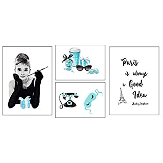 4Good Epictures Audrey Hepburn Poster A3 | Breakfast at Tiffany´s Bild | Bilder Set WBE (Audrey in Paris)
