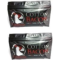Wick 'n' Vape Cotton Bacon Version 2- Mecha de algodón para vaper, 2 paquetes, 20 unidades por bolsa