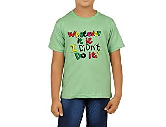 Clifton Boys Printed T-Shirts Half Sleeve R-Neck-Z-Green-What Ever It Is-S