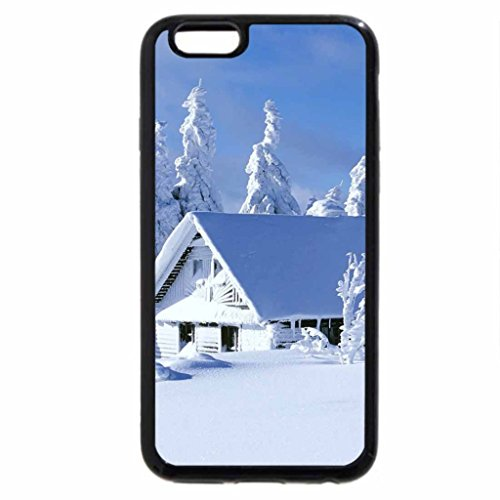 iPhone 6S / iPhone 6 Case (Black) snowed in house