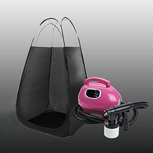 TTLIFE Pink Sunless Tanning Machine Spray Gun Sun Tan Kit 700W Sunless Kit Black Tent