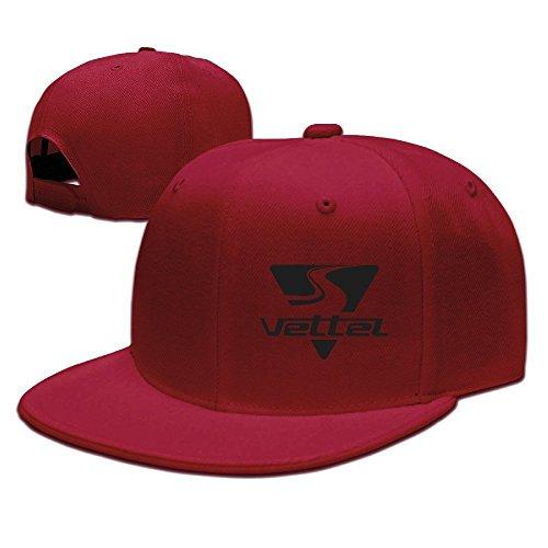 hittings Sebastian Vettel Unisex Fashion Cool Adjustable Snapback baseball cap hat One Size rosso