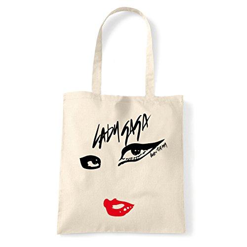Art T-shirt, Borsa Shoulder Born This Way, Shopper, Mare Natural
