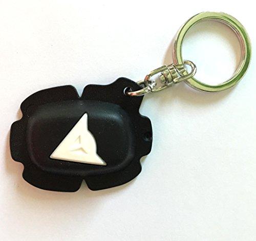 DAINESE SLIDER KEYS HOLDER Keyring ! Schlüsselanhänger Knieschleifer ! schwarz weiß ! NEU (Dainese Knieschleifer)