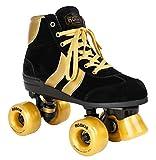 Rookie Rollerskates Authentic V2 RKE-SKA-2160 (Black Gold) Gr. 37